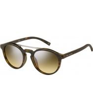 Marc Jacobs Marc-107 s n9p GG matná stříbrná Havana zrcadlové sluneční brýle