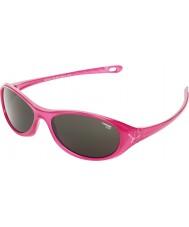 Cebe Gecko (ve věku 5-7) lesklé růžové translucid 2000 šedé sluneční brýle