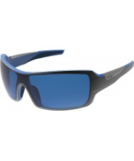 Bolle Diamondback lesklé černé modré polarizované GB-10 sluneční brýle
