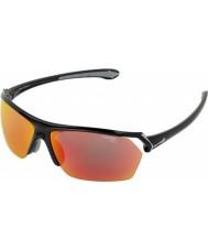 Cebe Divoké lesklé černé sluneční brýle vícevrstvé