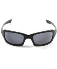 Oakley Oo9238-04 pětky hranaté lesklé černé - šedé sluneční brýle