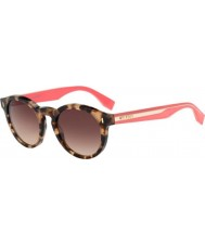 Fendi Barevný blok ff 0085-s HK3 D8 Havana růžové brýle