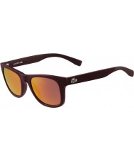 Lacoste L790s matné vínové sluneční brýle