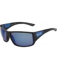 Bolle Pakobra páskovaná lesklé černé matné modrými polarizované offshore modré sluneční brýle