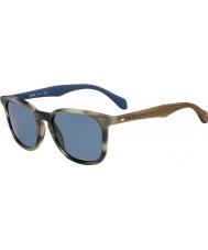 HUGO BOSS Pánská šéf 0843-S IWF 9a roh hnědé modré sluneční brýle