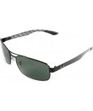 RayBan Rb8316 62 tech uhlíkových vláken černá zelená 002-N5 polarizované sluneční brýle