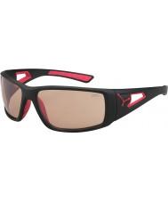 Cebe Session matná černá červená variochrom Perfo sluneční brýle