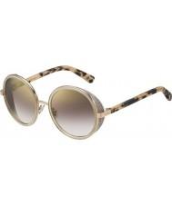 Jimmy Choo Dámská Andie-mailem j7a NH zlaté nahé Havana zlaté zrcadlové sluneční brýle
