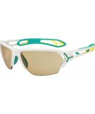 Cebe S-track velké matné bílé tyrkysová variochrom Perfo sluneční brýle s 500 jasnou náhradního objektivu