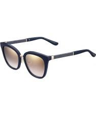 Jimmy Choo Dámy Fabry-S KCA NH modré třpytivé zlato zrcadlové sluneční brýle