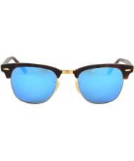 RayBan Rb3016 clubmaster písek želvoviny - modré zrcadlo