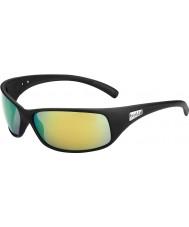 Bolle Recoil matná černá polarizované sluneční brýle hnědé smaragdové
