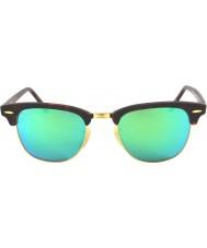 RayBan Rb3016 51 clubmaster písek tortoiseshell-zlatá 114519 zelené zrcadlové sluneční brýle