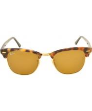 RayBan Rb3016 51 clubmaster spatřen hnědé havana 1160 sluneční brýle
