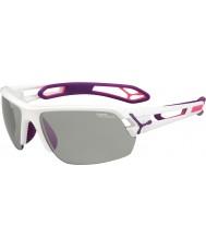 Cebe S-track střední bílou fialová variochrom Perfo sluneční brýle