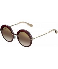 Jimmy Choo Dámská Gotha-mailem 65L qh vínové zlaté zrcadlové sluneční brýle