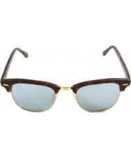 RayBan Rb3016 51 clubmaster písek tortoiseshell-zlatá 114530 stříbrné zrcadlové sluneční brýle