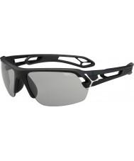 Cebe S-track střední matná černá variochrom Perfo sluneční brýle