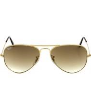 RayBan Rb3025 58 letec velké kovové zlaté 001-51 sluneční brýle