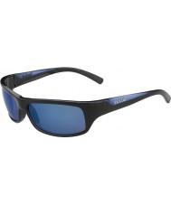 Bolle Divocí lesklé černé modré polarizované offshore modré sluneční brýle