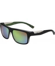 Bolle Clint matná černá vápno polarizované sluneční brýle hnědé smaragdové