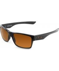 Oakley Oo9189-03 twoface lesklé černé - tmavý bronz sluneční brýle