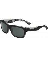 Bolle Jude matná černá Argyle bílé polarizované sluneční brýle TNS