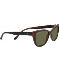 Serengeti Sophia lesklé černé polarizované sluneční brýle 555nm