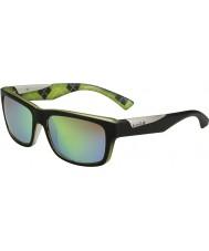 Bolle Jude matná černá vápno polarizované sluneční brýle hnědé smaragdové