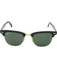 RayBan Rb3507 51 clubmaster hliníková černá arista 136-N5 polarizované sluneční brýle