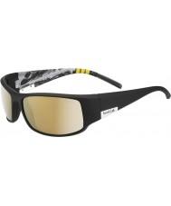 Bolle Král lesklá černá hora polarizované sluneční brýle AG-14