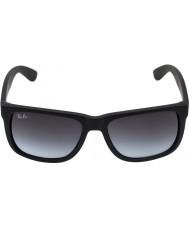 RayBan Rb4165 55 Justin gumové černé sluneční brýle 601-8g