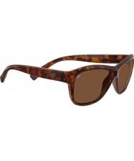 Serengeti Gabriella lesklý červený želvoviny polarizované sluneční brýle ovladače