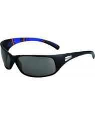 Bolle Recoil matný modré pruhy modulátor polarizované sluneční brýle šedé