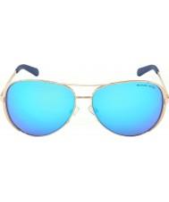 Michael Kors Mk5004 59 chelsea růžové zlato 100.325 modré zrcadlové sluneční brýle