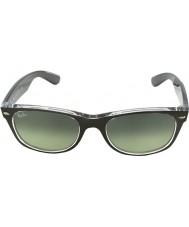 RayBan Rb2132-52 nový Poutník top kartáčované šedostříbrná na transparentních 6143-71 sluneční brýle