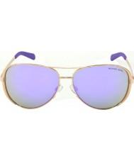 Michael Kors Mk5004 59 chelsea Rose Gold 10034v fialové zrcadlové sluneční brýle