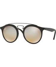 RayBan Rb4256 49 Gatsby matná černá 6253b8 šedá zrcadlové sluneční brýle