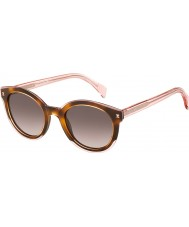 Tommy Hilfiger Dámy th 1437-S lq8 3x růžové brýle Havana