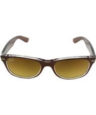 RayBan Rb2132 52 nový pocestný top kartáčované hnědé na transparentních 614585 sluneční brýle